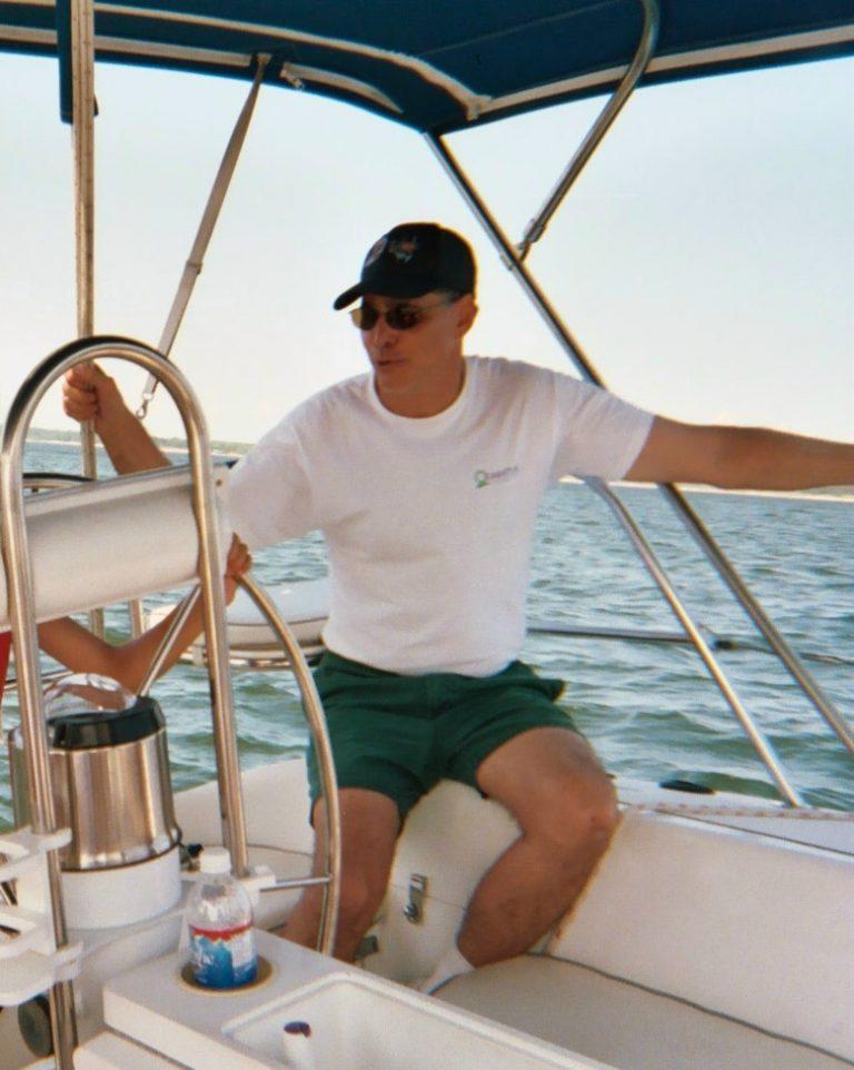 Alan sailing on Lake Texoma
