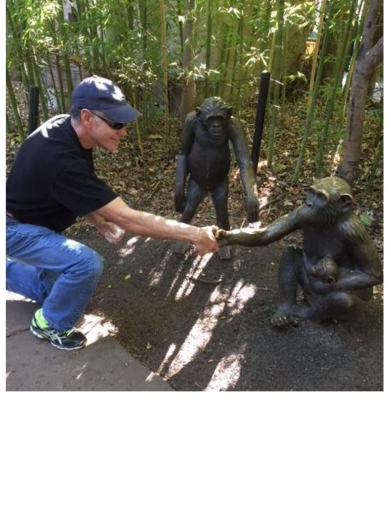 Alan making friends